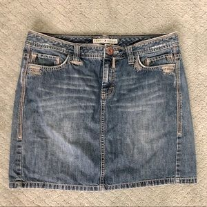 Tommy Hilfiger distressed jean skirt